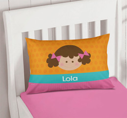 Orange Just Like Me Girl Customize Pillow