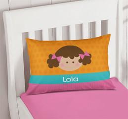 Just Like Me Girl Orange Pillowcase Cover