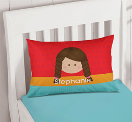 Just Like Me Girl Red Pillowcase Cover