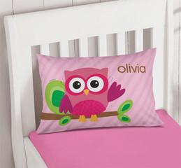 Pink Owl Be Yours Pillowcase Cover