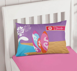 Surfing The Waves Monogrammed Pillowcases