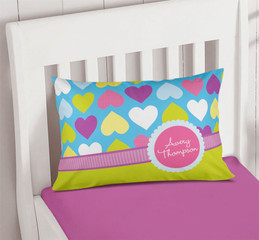 Happy Hearts Kids Pillow Cases