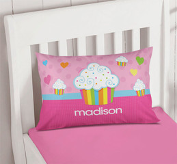 Rainbow Cupcake Pillowcase Cover