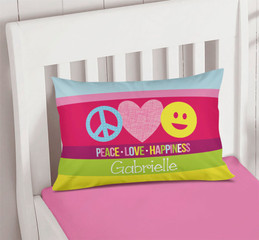 Peace & Love Signs Pillowcase Cover