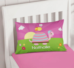 Turtle And Happy Bird Pillowcase Cover