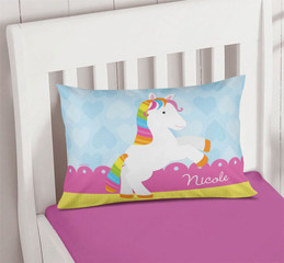 Cute Rainbow Pony Pillowcase Cover
