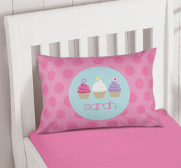 Three Sweet Cupcakes Pillowcase Cover