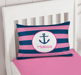 Let's Sail Pink Pillowcase Cover
