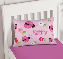 Sweet Pink Lady Bug Pillowcase Cover