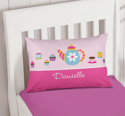 Tea Time Personalized Pillows