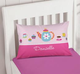 Tea Time Pillowcase Cover