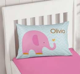Sweet Pink Elephant Pillowcase Cover