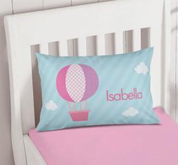 Pink Hot Air Balloon Pillowcase Cover