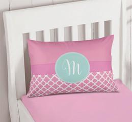Pretty Pink Quatrefoil Pillowcase Cover