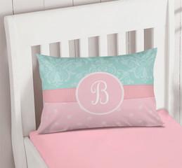 Pretty Blue Damask Pillowcase Cover