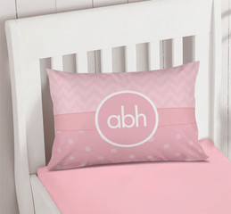 Initials on Chevron Monogrammed Pillowcases