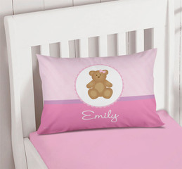 A Sweet Teddy Bear Pillowcase Cover
