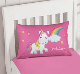 Rainbow Unicorn Pillowcase Cover