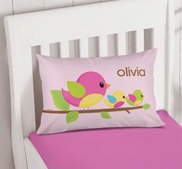 Singing Birds Pillowcase Cover