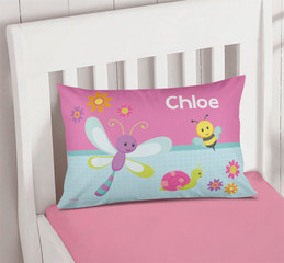 Three Sweet Little Bugs Pillowcase Cover