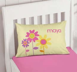 Three Spring Blooms Printed Pillow Cases