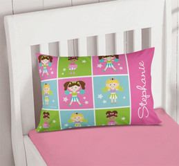 Three Cheerleaders Pillowcase Cover