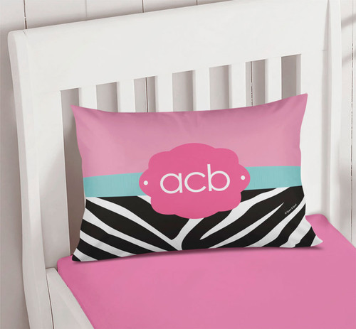 Zebra and pink Pillowcase Cover
