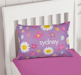 Field Of Flowers Purple Pillowcase Cover
