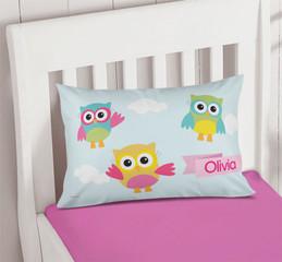 Three Owls Pillowcase Cover