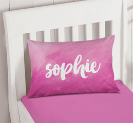Bold Colorful Name Pillowcase Cover