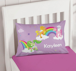 Sweet Unicorns Personalized Name Pillows