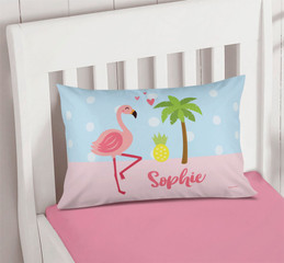 Sweet Flamingo Love Pillowcase Cover