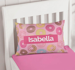 Sweet Donuts Kids Pillow Cover