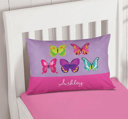 Bright Butterflies Pillowcase Cover