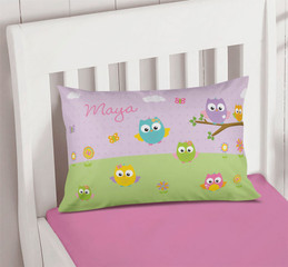 Owls on the Field Pillowcase Cover