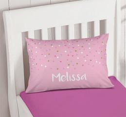 Sweet Glitter Dots Kids Throw Pillows