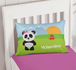 Sweet Panda Pillowcase Cover