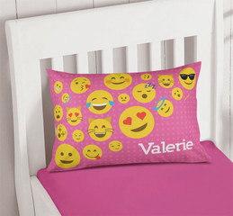 Girl Emojis Printed Pillow Cases