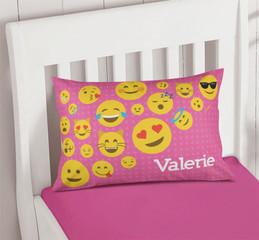 Girl Emojis Pillowcase Cover