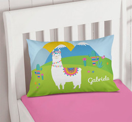 Sweet Llama on the Field Pillowcase Cover