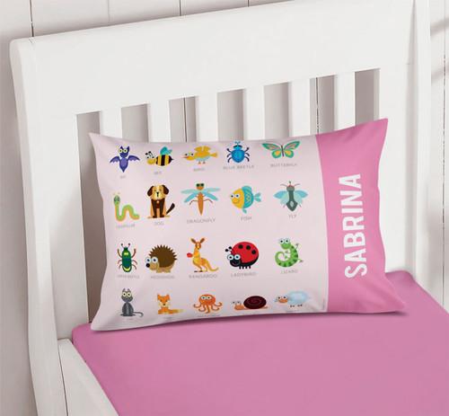 Pink Sweet Animal Chart Cute Pillows For Girls