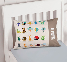 Sweet Animal Chart Brown Pillowcase Cover