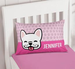 Fun & Cute Dog Pink Pillowcase Cover