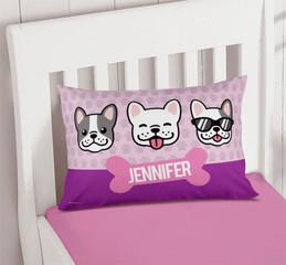 Cool Dogs - Pink Kids Monogram
