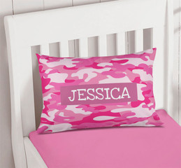 Pink & Purple Camouflage Pillowcase Cover