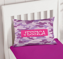 Purple & Pink Camouflage Pillowcase Cover