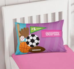 Girl Love For Sports Pillowcase Cover