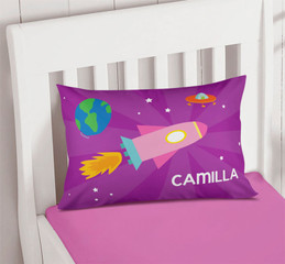 Rocket On The Sky Personalized Pillows