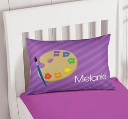 Ready For Art Purple Pillowcase Cover