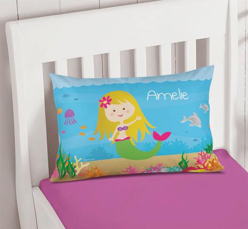 Sweet Mermaid Pillowcase Cover